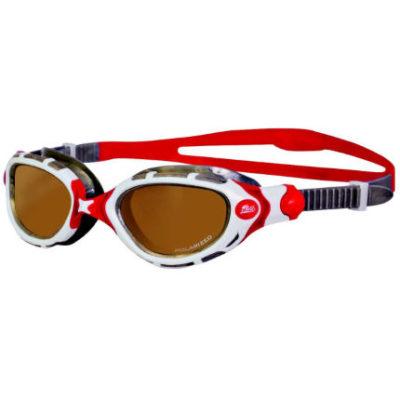 Zoggs-Predator-Flex-Polarized-Ultra-Goggles-Red-White-Swimming-Goggles-Copper-White-Silver